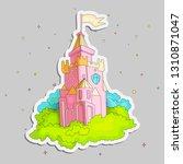 cartoon medieval fun pink... | Shutterstock .eps vector #1310871047