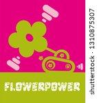 funny flower power tank | Shutterstock .eps vector #1310875307