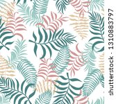tropical background with palm...   Shutterstock .eps vector #1310883797
