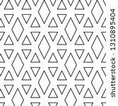 triangles  rhombuses ornament.... | Shutterstock .eps vector #1310895404