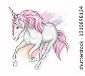 beautiful unicorn in the... | Shutterstock .eps vector #1310898134