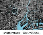 black and white vector city map ... | Shutterstock .eps vector #1310903051