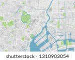 vector city map of tokyo with... | Shutterstock .eps vector #1310903054