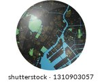 tokyo vector map button with... | Shutterstock .eps vector #1310903057