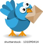 Illustration Of Blue Bird With...