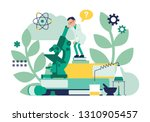 male scientist working with...   Shutterstock .eps vector #1310905457