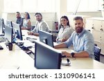 colleagues are concentrated on... | Shutterstock . vector #1310906141