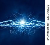 electric lighting effect ... | Shutterstock . vector #131090639