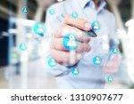 organisation structure chart ... | Shutterstock . vector #1310907677
