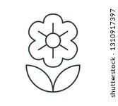 flower concept line icon....