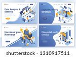 set of landing page design... | Shutterstock .eps vector #1310917511
