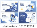 set of landing page design... | Shutterstock .eps vector #1310917514