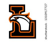 letter l with eagle head. great ... | Shutterstock .eps vector #1310917727