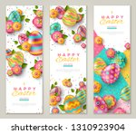 easter vertical banners with... | Shutterstock .eps vector #1310923904