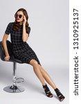 high fashion woman in black... | Shutterstock . vector #1310925137