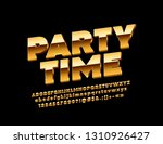 vector poster party time with... | Shutterstock .eps vector #1310926427