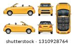 Yellow Car Vector Mockup For...