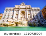 fountain di trevi in rome ... | Shutterstock . vector #1310935004