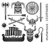 vikings and scandinavian... | Shutterstock .eps vector #1310936081