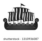 vikings sail boat or... | Shutterstock .eps vector #1310936087