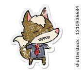 distressed sticker of a cartoon ... | Shutterstock .eps vector #1310936684