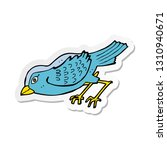 sticker of a cartoon garden bird | Shutterstock .eps vector #1310940671