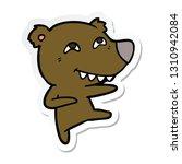 sticker of a cartoon bear... | Shutterstock .eps vector #1310942084