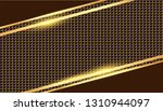 golden border on gold metal... | Shutterstock .eps vector #1310944097