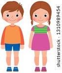 children little boy and girl... | Shutterstock .eps vector #1310989454