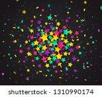 colorful confetti of stars and... | Shutterstock . vector #1310990174