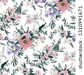 trendy bright floral pattern in ... | Shutterstock .eps vector #1310991671