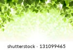 summer branch with fresh green... | Shutterstock .eps vector #131099465