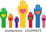 hands with a heart in the... | Shutterstock .eps vector #131099675