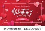 valentine's day sale banner... | Shutterstock .eps vector #1311004097