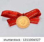 quarter and half turkish gold... | Shutterstock . vector #1311006527