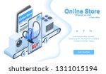 mobile application for online... | Shutterstock .eps vector #1311015194