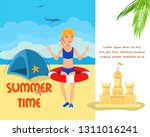 beach camping cartoon color... | Shutterstock .eps vector #1311016241