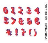 3d red metallic isometric...   Shutterstock .eps vector #1311017507