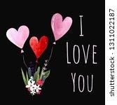 happy valentine's day... | Shutterstock . vector #1311022187