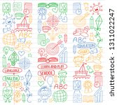 vector set of learning english... | Shutterstock .eps vector #1311022247