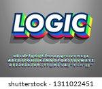 cool 3d extrude font effect... | Shutterstock .eps vector #1311022451