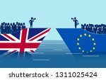 brexit negotiations and crowd... | Shutterstock .eps vector #1311025424