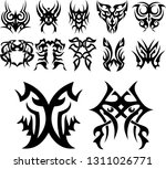 tribal tattoo designs collage  | Shutterstock .eps vector #1311026771