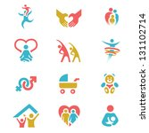 colorful family health... | Shutterstock .eps vector #131102714