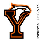 letter y with eagle head. great ... | Shutterstock .eps vector #1311027527