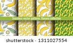 banana seamless pattern set....   Shutterstock .eps vector #1311027554