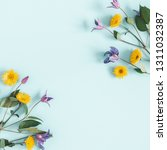 flowers composition. yellow and ... | Shutterstock . vector #1311032387