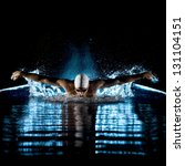 taking breath swimming... | Shutterstock . vector #131104151