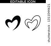 simple set of valentine love... | Shutterstock .eps vector #1311044621