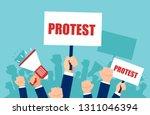 vector of multiple hands... | Shutterstock .eps vector #1311046394